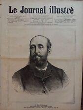 LE JOURNAL ILLUSTRE 1885 N 44 M.JULES CLARETIE Adm.Gén. DE LA COMEDIE FRANCAISE