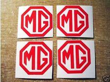4 x RED MG Vinyl Car Sticker Decals ZR ZT ZS TF
