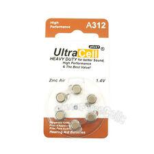6 x Zinc Air Hearing Aid Battery 312 A312 PR41 7002ZD 312A B347PA AC312 ME7Z