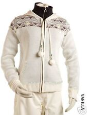NILS New Ski Snow Full Zip SWEATER HOODIE VANILLA M