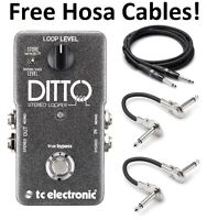 New TC Electronic Ditto Stereo Looper Guitar Effects Pedal Hosa Cables