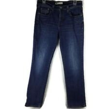 Levi 505 Size 8M Med Wash Whiskered Stretch Jeans Straight Leg