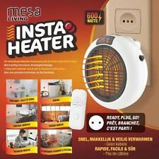 Mesa Living Insta Heater Mini Heizung Heizstrahler 12h-Timer + Fernbedienung