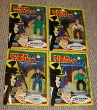 4 Unpunched Dick Tracy Figures Pruneface Itchy Tramp Influence Moc Nos New Htf