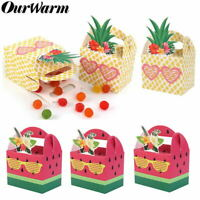 10Pcs DIY Paper Candy Gift Box for Hawaiian Party Fruit Pineapple Favor Boxes