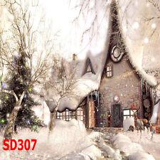 Christmas Vinyl Photography Backdrop Background Studio Photo Props 10x10FT SD307