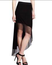 NWT BCBG MAXAZRIA Sexy Kardashian **Dark Blue** Black Organza Mini Maxi Skirt S