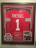 Jim Tressel Framed Autographed Ohio State Buckeyes Jersey w/ COA