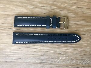 New Current Model Breitling 113X 20mm Blue Calf Leather Watch Strap & Buckle