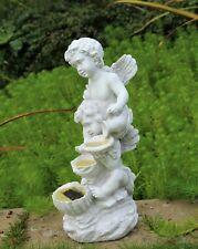 Garden Solar Ornament Cherub water Feature Fairy Angel Figurine BOXED `S'