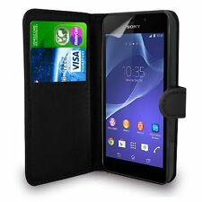 For SONY XPERIA E5  - Premium Leather Magnetic Flip Wallet Case Cover