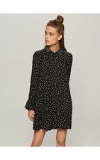 Reserved Polka Dot Shirt Dress UK Size 12 TD094 HH 08