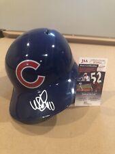 Willson Contreras Signed Chicago Cubs Full Size Replica Helmet MLB STAR JSA COA