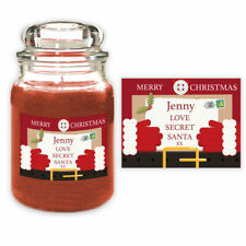 Personalised Secret Santa Christmas Candle Label Gift