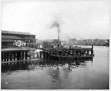 "Photo 1900 Sydney Australia ""Cleaning Wharves - Bubonic Plague Quarantine Area"""