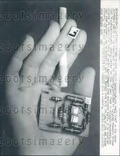 1957 US Army Printed Circuit Transistor by Dr J. W. Lathrop Press Photo