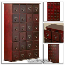 Multimedia Storage Cabinet Library Card Catalog Apothecary Sewing Craft CHERRY