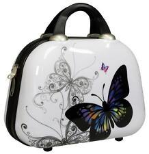 Hartschalen Schmink Reise Koffer Beautycase Kosmetik Handgepäck Schmetterling