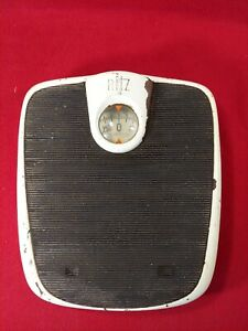 Vintage Ritz Bathroom Scales White TESTED Brearley Co. US Made