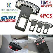 4x Universal Carbon Fiber Car Safety Seat Belt Buckle Alarm Stopper Clip Clamp Fits Toyota