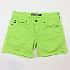 BIG STAR Womens Shorts Size 27 Lime Green Cotton Stretch Remy Low Rise 5 Pocket