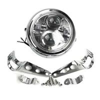6.5''  Moto Phare Projecteur LED Headlight Lamp + Bracket Pour Jeep Harley