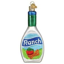 Ranch Dressing Old World Christmas Glass Salad Chicken Wing Ornament Nwt 32443