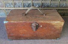 Vintage Fishing Tackle Box US Fish & Game 1944 Yellow Stone