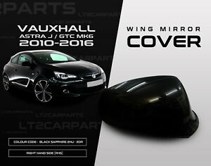 Vauxhall Astra J MK6 2010-2016 Wing Mirror Cover in Black Sapphire RHS