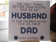 Handmade Personalised Husband and Dad Birthday Card or Father's Day Card