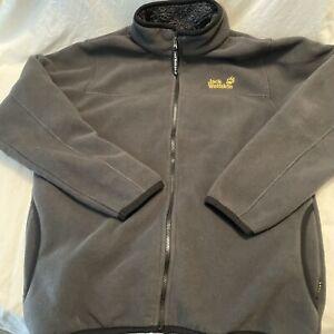 JACK WOLFSKIN Men's Nanuk Fleece Full Zip Sherpa Lined Jacket Size XL