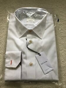 Paul Smith  Long Sleeve Formal Modern  fit Shirt in White - RRP £185