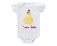 Beauty and the Beast Belle Newborn Jumpsuit Baby Bodysuit Long Sleeve Romper Set