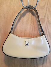 GUESS Shiny Smooth Leather Mini Hobo Bag Latte Tan Small Womens Girls Purse EUC