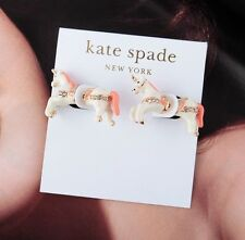 Kate Spade 12K Gold Plated Carnival Nights Unicorn Double Sided Stud Earrings