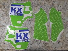 NEW KAWASAKI KX500 KX 500 GRAPHICS DECALS FUEL GAS TANK SHROUDS 1988-2004