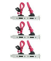 3x 2 Port SATA Serial ATA Internal to eSATA External PCI Slot Bracket Adapter