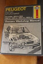 Peugeot 305 Petrol all Models 1978 - 1984 Haynes workshop Manual 538