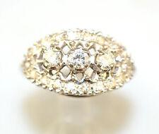 VINTAGE 14K WHITE GOLD DIAMOND WEDDING OR ANNIVERSARY BAND RING 1/3 CARAT SIZE 7