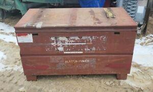 24'' x 48'' x 24'' Deep JOBOX Industrial Steel Storage Chest Red/Maroon Color