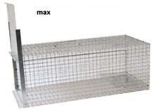 Gabbia Trappola animali , gatti, nutrie, conigli ,donnole,nutrie 82x36x36 RECUPE