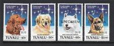 TUVALU MNH 1994 SG698-701 CHINESE NEW YEAR - DOG SPECIMEN OPT