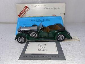 1/24 Franklin Mint 1938 Alvis 4.3 Litre Green Silver READ ME