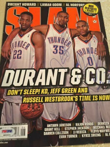 Kevin Durant/Russell Westbrook Autographed Slam Magazine