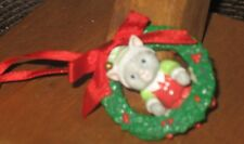 Kitty Cucumber Kitty In Wreath Ornament Mnb
