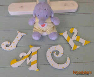 *ANY NAME & ANY COLOUR* Decorative Personalised Wooden Letters Painted #29#