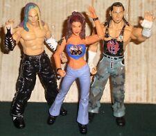 WWE WRESTLING FIGURES TEAM XTREME HARDY BOYZ MATT JEFF & LITA WWF JAKKS DIVAS