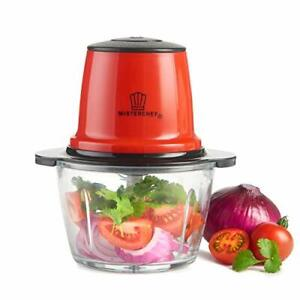 MisterChef® Mini Electric Food Chopper Processor Blender Portable Fruit Cutter
