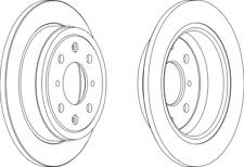 Pair Of Coated Brake Discs Ferodo DDF468C