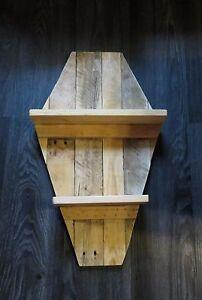 "Coffin wall shelf  Dracula style gothic home decor 22"" x 15"""